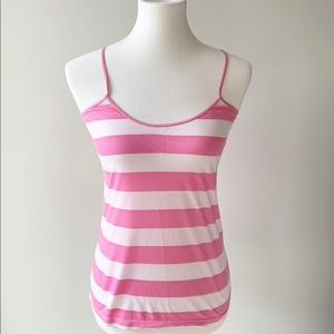 PINK Victoria's Secret Pink and White Striped Tank
